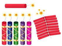 Diwali Pataka Bomb Crackers Set Royalty Free Stock Images