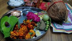 Diwali Pooja Materials stock foto