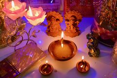 Diwali poojan Stock Photography