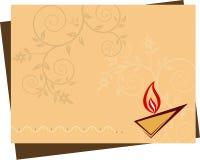Diwali powitanie Fotografia Stock