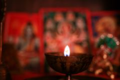 Diwali Puja. Diwali or Deepawali is a festival of light and prosperity and celebrated widely in India and at many parts of the world stock image