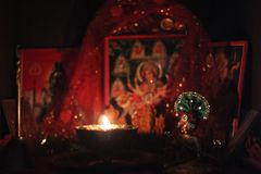 Diwali puja. Diwali a festival of light and prosperity and celebrated widely in India and is one of the most popular festival of Hindus. Durga Puja aur Navratra royalty free stock photos
