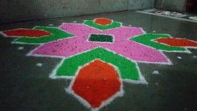 Diwali Rangoli. Colourful Rangoli for Diwali Royalty Free Stock Photography
