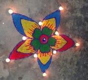 Diwali rangoli. It is made of rangoli colours vector illustration