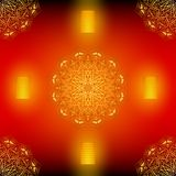 Diwali red seamless vector pattern with golden mandala. Vector Illustration