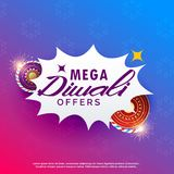 Diwali sale background with crackers vibrant background. Vector Royalty Free Stock Photo