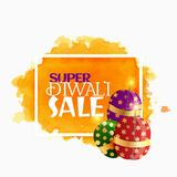 Diwali sale background with sparkling crackers. Vector Royalty Free Stock Photo