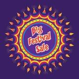 Diwali sale banner design Stock Image