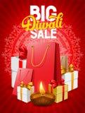 Diwali sale. Diwali holiday big sale, bright red background for business promotion. Vector illustration