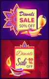 Diwali Sale -50 off Sign Vector Illustration Royalty Free Stock Photo