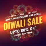 Diwali sale offer banner design. Vector Royalty Free Stock Photography