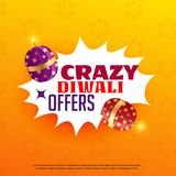 Diwali sale and offers poster design with festival crackers. Vector Royalty Free Stock Photos