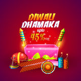 Diwali Sale Poster or Banner. Stock Photography