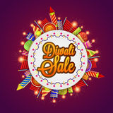 Diwali Sale Poster, Banner or Flyer design. Diwali Sale Banner, Sale and Discounts Flyer, Special Offer Poster, Stylish Tag, Creative background with colorful Royalty Free Stock Photo