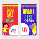 Diwali Sale Web Banners. Stock Photo