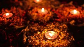Diwali se enciende, festival de luces, la India almacen de metraje de vídeo