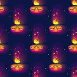 Diwali seamless pattern. Diwali lamp bright colorful sign. Royalty Free Stock Images