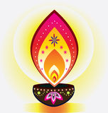 Diwali stearinljusljus Royaltyfria Bilder