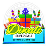 Diwali Super Sale Poster, Banner or Flyer. Diwali Super Sale Banner, Big Sale and Discount Flyer, Special Offer Poster, Creative background with colorful Royalty Free Stock Images