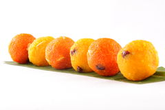 Diwali sweets - Ladoo in white background. Stock Photography