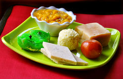 Diwali sweets, mthai. Gulab jamun, barfi and other Indian sweets Stock Image