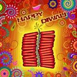 Diwali verzierte Kracher lizenzfreie abbildung