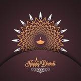 Diwali vintage card design background. Stock Photo