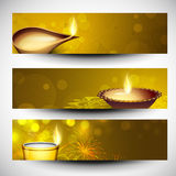 Diwali Website headers or banners. Stock Photography