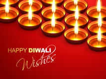Diwali wishes. Happy diwali wishes greeting design Royalty Free Stock Photos