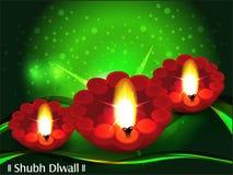 Diwaliachtergrond met groene golf Stock Afbeeldingen