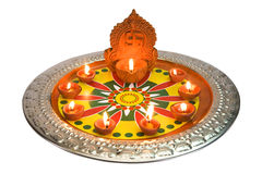 Diwalidecoratie bij Diwali-Festival Stock Foto's