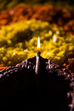 Diwalidiya of auspecious die olielamp uit teracotta wordt samengesteld Stock Afbeelding