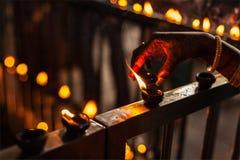 Diwalilichten Stock Afbeeldingen
