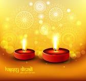 美好的愉快的diwali五颜六色的印度节日闪烁的religi 免版税图库摄影