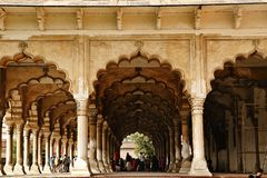 Diwan-E-Aam, Agra Fort, Agra, Uttar Pradesh, India Royalty Free Stock Photo