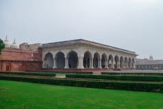 Diwan E Aam, Hall av offentliga åhörare i det röda Agra fortet Agra Utt royaltyfria bilder