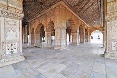 Diwan-e-Khas o Corridoio della fortificazione rossa Delhi del pubblico Fotografia Stock