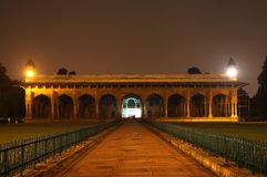 Diwan-e-Am of red fort, Delhi Royalty Free Stock Image
