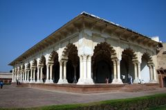 Diwan-I-Am bij Fort Agra Royalty-vrije Stock Afbeelding