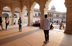 Diwan-i-Am, or Hall of Public Audience, at Agra Red Fort Royalty Free Stock Photo