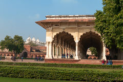 Diwan I Am, Hall of Public Audience in Red Agra Fort Royalty Free Stock Image