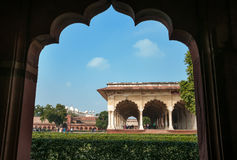 Diwan I Am, Hall of Public Audience in Red Agra Fort Stock Image