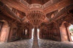 Diwan-i-Khas内部,一部分的法泰赫普尔西克里复合体 库存图片