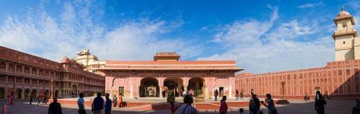 Diwan-I-Khas, City Palace, Jaipur, India. Tourists admire the  Diwan-I-Khas and surrounding courtyard Royalty Free Stock Images