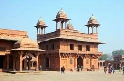Diwan-i-Khas, em Fatehpur Sikri, Índia imagem de stock
