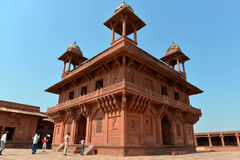 Diwan-i-Khas in Fatehpur Sikri. Diwan-i-Khas (Hall of Private Audience), which was used by the emperor for the reception of important guests, in the Fatehpur Stock Photos