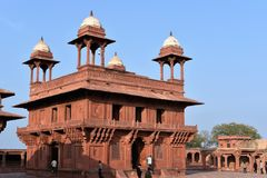 Diwan-I-Khas, Fatehpur Sikri, Uttar Pradesh fotografia de stock royalty free