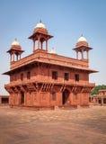 Diwan-i-Khas Pasillo en Fathepur Sikri - Agra, la India foto de archivo libre de regalías