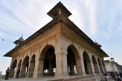 Diwan-i-Khas pavilion in the Red Fort Royalty Free Stock Image