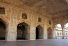 Diwan-i- Khas & x28; Hall av privata Audience& x29; i det Agra fortet Uttar Pra Royaltyfri Fotografi